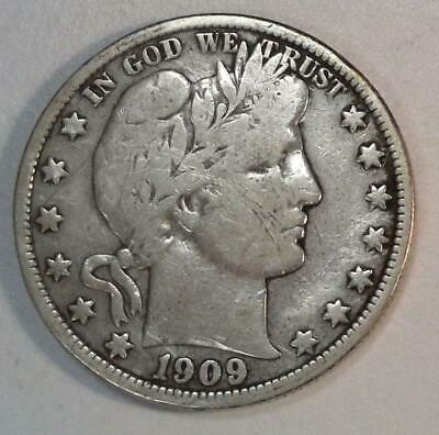 Better Date***old U.s Coin 1909 P Barber Silver Half Dollar Vg/f #m43