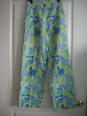 VINTAGE  LIZA by Lilly Pulitzer  animal print pants