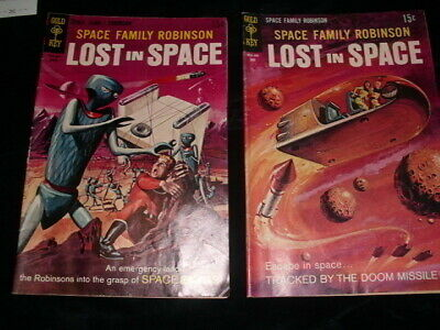 SPACE FAMILY ROBINSON LOST IN SPACE #34&#35 a 1969 Gold Key Silver Age comic