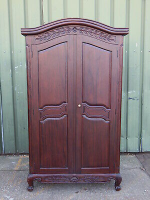 Stunning french provincial wardrobe armoire / tv entertainment cabinet repro 3/3