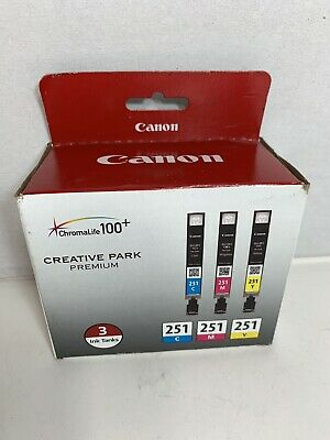 Canon 251 Ink Cartridge.3 Pack .New