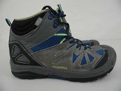 8a6145b094d MERRELL CAPRA MID WTPF Boys Youth US 5M Gray/Blue/Green Hiking Boots