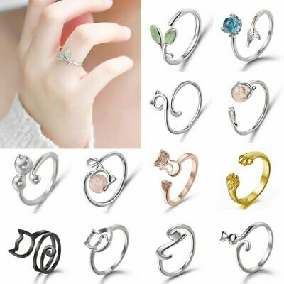 Cute Cat Animal Ring Open Finger Knuckle Finger Women Ladies Jewelry Gift Party