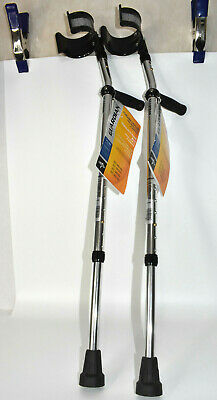 Medline Guardian Pediatric Child Aluminum Forearm Crutches G05163 NEW WITH TAGS
