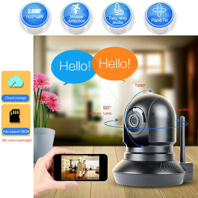 JOOAN 1080P Wireless Wifi Home Security Camera IP Baby Monitor Night Vision CCTV