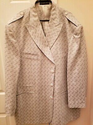Diamond Threads Grey and Mens Sports Coat Blazer sz 56R Condition is Pre-owned