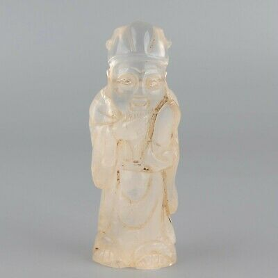 Chinese Exquisite Hand carved character Carving crystal statue