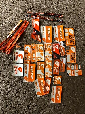 Greater Western Sydney Giants AFL  Member Stickers - Lanyards - Various Years