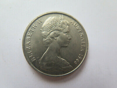 1966 CANBERRA MINT AUSTRALIAN 20 CENT COIN Almost UNCIRCULATED CONDn MINT LUSTRE