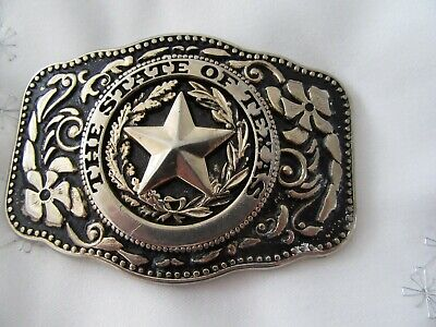 """Vintage  ,collectable     """""""" The State Of Texas  """"""""   Belt Buckle"""