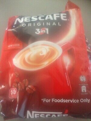 nescafe 3 in 1 coffee sachets-50 pack-great for camping