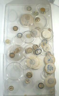Antique Large Lot Of Glass  Pocket Watch Crystals