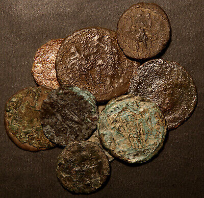 Ancient Roman Coin Lot: 9 Coins from the Bottom of the Barrel