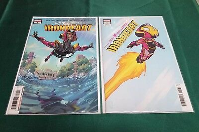 Ironheart #1 Marvel 2018 REG and Skottie Young Baby Variant Cover Riri Williams