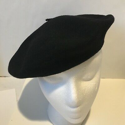 f02f77d19754f Vintage Basque Beret Black Imported From France 100% Wool