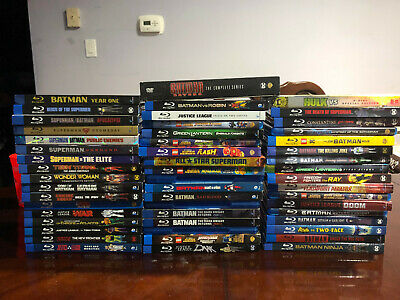 Huge DC Animated Movie Lot Blu-ray (Some are DVD)