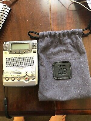 Sony MZ-B100 Minidisc Recorder/Player with pouch. Used but works well