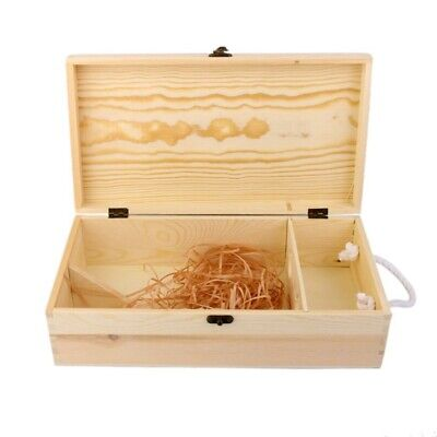 Double Carrier Wooden Box for Wine Bottle Gift Decoration L9L7