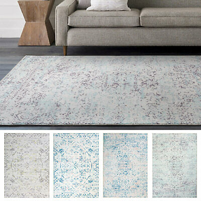Sale Sale! Large Rugs Teal Grey Pink  Soft Distressed Persian Lounges Carpet