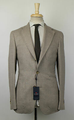 New PAL ZILERI CONCEPT Wool Blend W/ Leather Sport Coat 46/36 R Drop 8 $1195