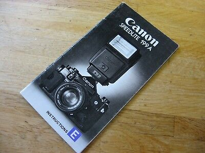 Vintage Canon Speedlite 199A Flash Owners Manual