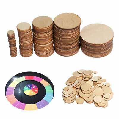 DIY Decorative Round Circles Ring Scrapbooking Card Making Wooden Embellishment