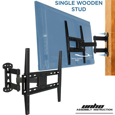 "AU Swivel Wall Mounted TV Bracket Extending Arm for 26-55"" Sony LG Fit Wood Stub"