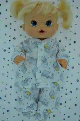 """Play n Wear Doll Clothes For 13"""" Baby Alive PJ'S~FLANNELETTE PANTS~TOP~BOOTES"""