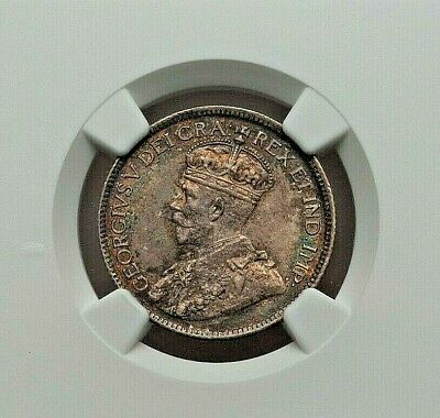 1919-C Canada Newfoundland George V Silver 25 Cents Ngc Ms-61 L@@K
