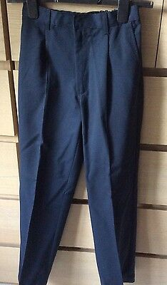 Boys Navy Trousers M&S Age 11 Worn Once!