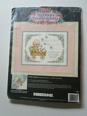 Ribbon Embroidery Kit Of A New Arrival By Ruth Or Bill Morehead.