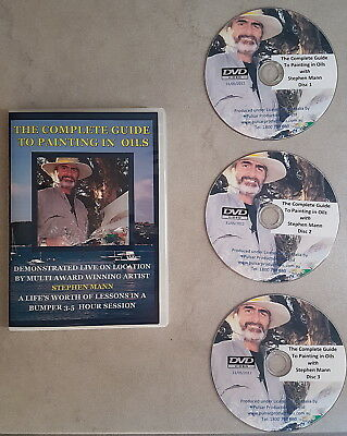 The Complete Guide to Painting in Oils with Stephen Mann - 3 DVD set - AS NEW