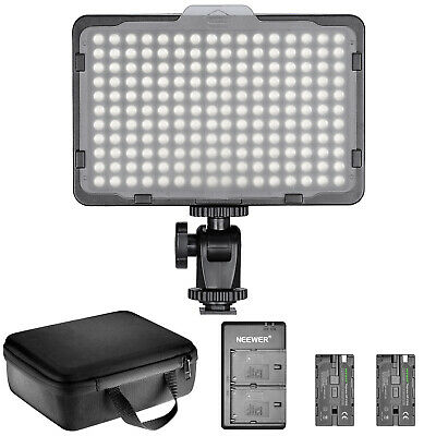 Dimmable 176 LED Video Light Lighting Kit with Battery and Charger