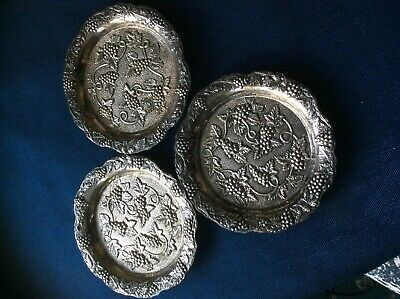 Vintage Silver plated Wine Coasters by EH Parkin (Cameo)