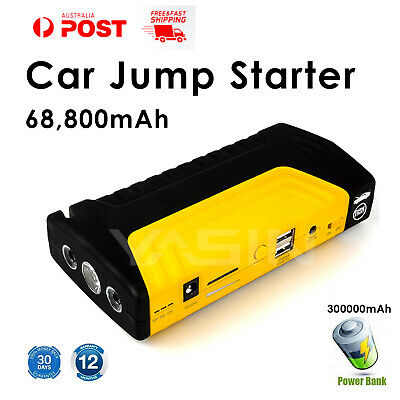 Portable Car Jump Starter Power Bank Booster Dual USB Battery Charger 12 Volt