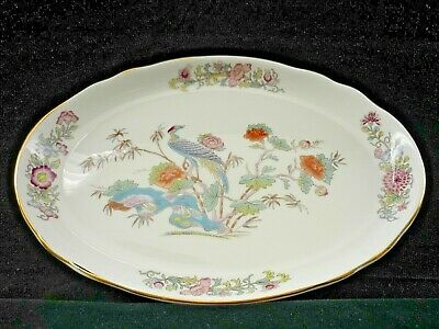Wedgwood Kutani Crane Oval Sandwich / Biscuit Plate In Perfect Condition