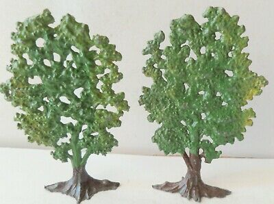 "John Hill Pre-War Painted Lead Lot Of 2 Trees About 3.1/8"" Tall"