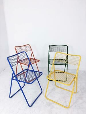 Set of Four Folding Chairs Ted Net by Niels Gammelgaard, 1970s, Sweden