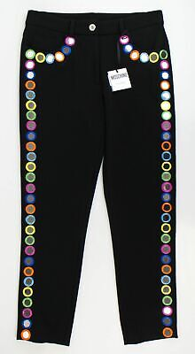 New MOSCHINO COUTURE X JEREMY SCOTT Mirror Embellished Casual Pants 6/40 $1095