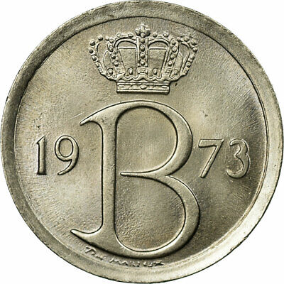 [#686552] Münze, Belgien, 25 Centimes, 1973, Brussels, SS, Copper-nickel