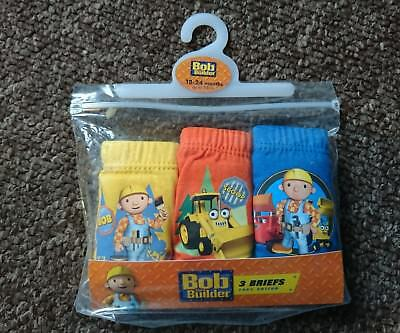 3 PAIRS baby boys bob the builder briefs size 18-24 months elasticated waist NEW