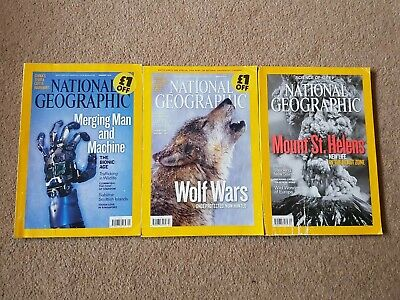 National Geographic x3, Jan, March and May 2010