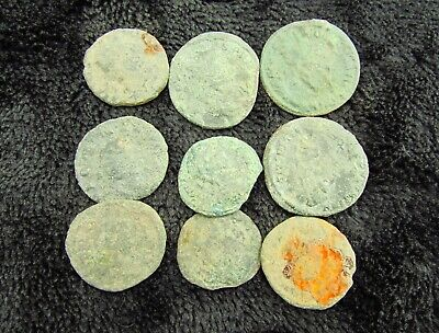Ancient Roman lot of Bronze Coins circa 200 - 400  AD (6M)