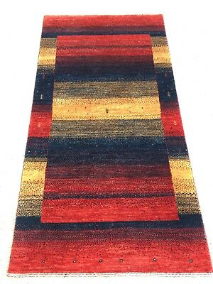 Tapis Gabbeh moderne Pur laine tappeto teppich carpet rugs 125x81cm alfombra
