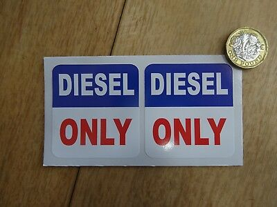 DIESEL ONLY - Set of 2 Full Colour Self Adhesive Stickers (DSLv2)
