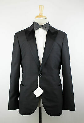 d9bb1705a5079a NWT BRUNELLO CUCINELLI Charcoal Gray Wool Blend Satin Tuxedo Suit 50/40 R  $5295