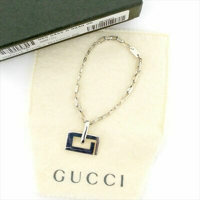 85d437fba63 GUCCI Key chain Charm G Motif Silver 925 Authentic Free Shipping from Japan