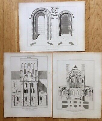 1818 Antique Prints: Church of St Cross, Winchester,Hampshire after C.F. Porden