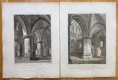 1820 Antique Prints: Church of St Cross, Winchester, Hampshire after Mackenzie
