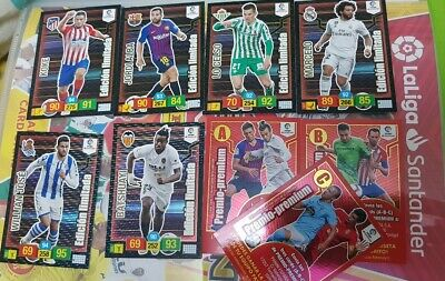 Pack Adrenalyn Xl 2019. 6 Card Limitadas + Letras A-B-C. Nuevos De Sobre.